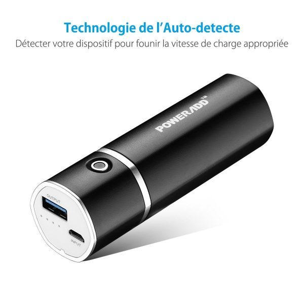 img 1 Poweradd Slim2 5 000 mAh Autodétection
