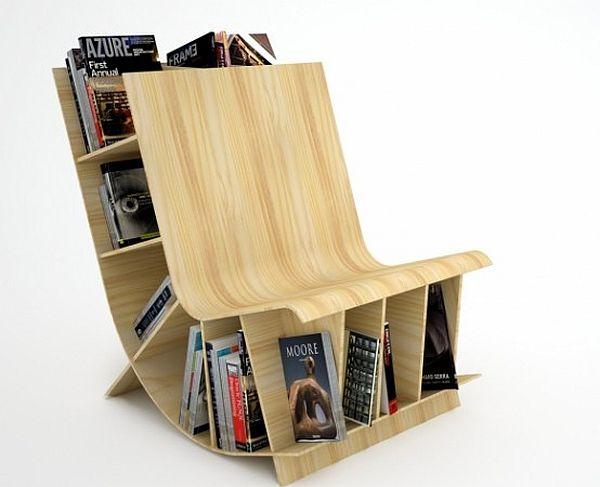 fauteuil à bascule moderne